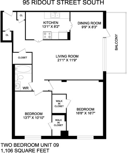 Floorplans For Apartments In London At 95 Ridout Street